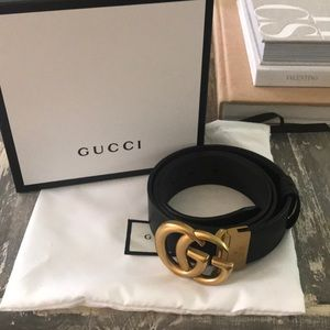 Gucci Black/Brown double sided Marmont Belt. 90/36